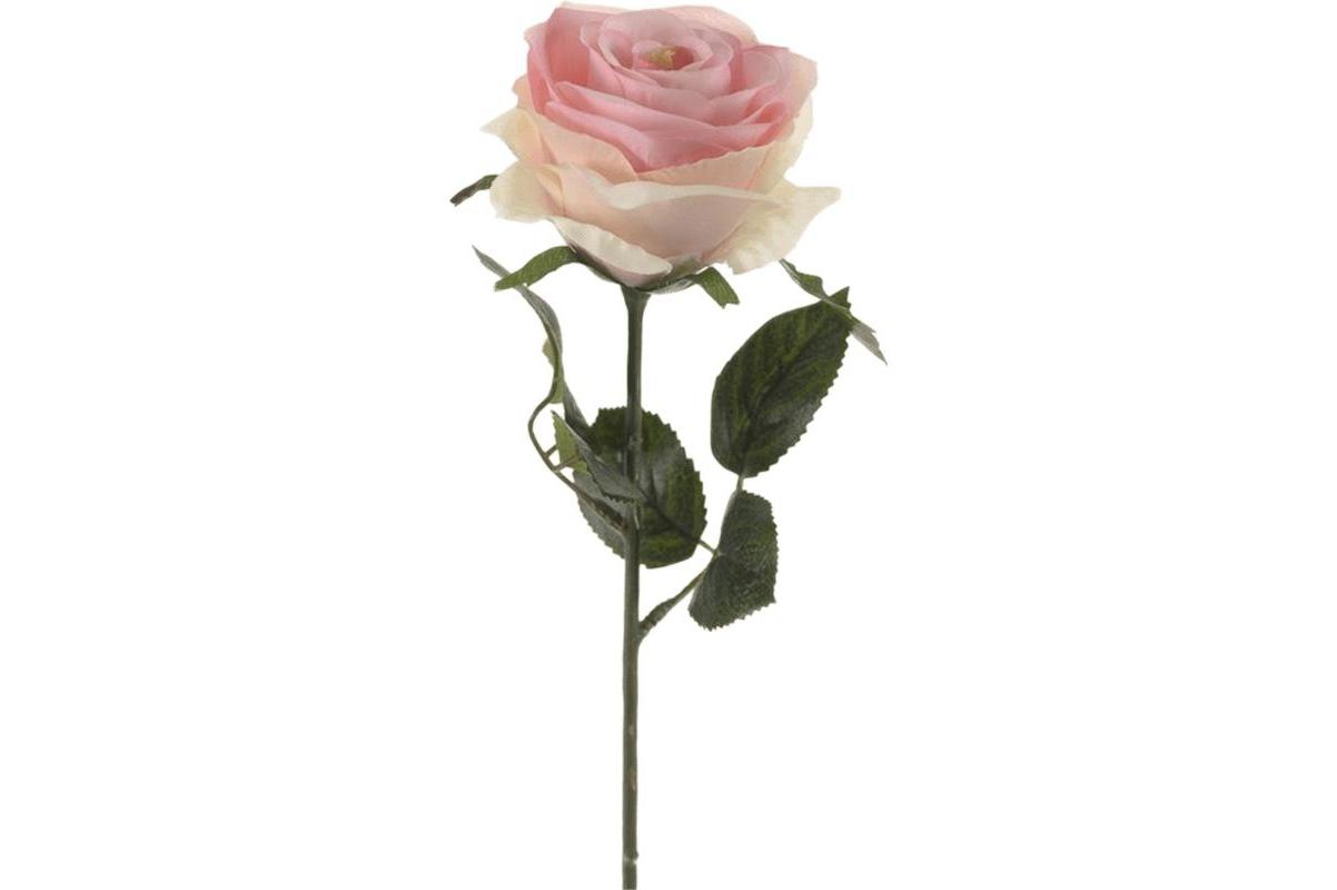 Роза симона розовая искусственная h45 см