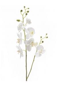 Орхидея фаленопсис двойная ветвь белая искусственная h95 см