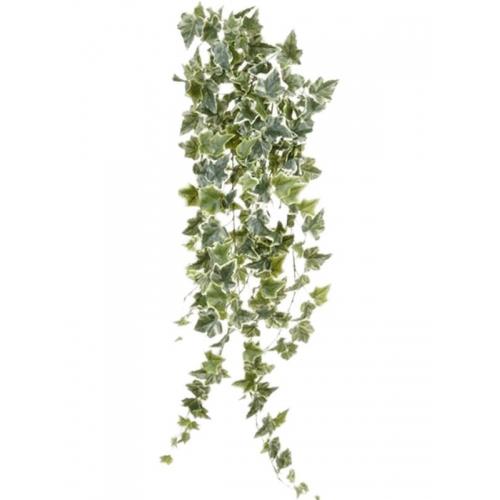 Плющ хедера бело-зелёный искусственный h100 см