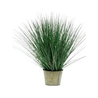 Дикая трава в цинковом горшке искусственная h80 d24 см