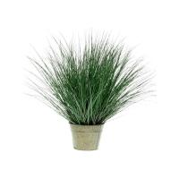Дикая трава в цинковом горшке искусственная h95 d30 см