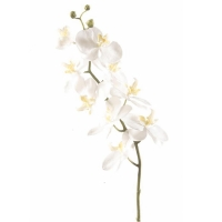 Орхидея фаленопсис ветвь белая искусственная h75 см
