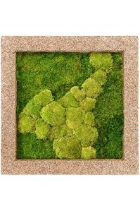 Картина из стабилизированного мха naturescast 50% ball- and 50% flat moss l70 w70 h5 см