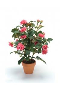 Куст розы искусственный темно-розовый 30 см