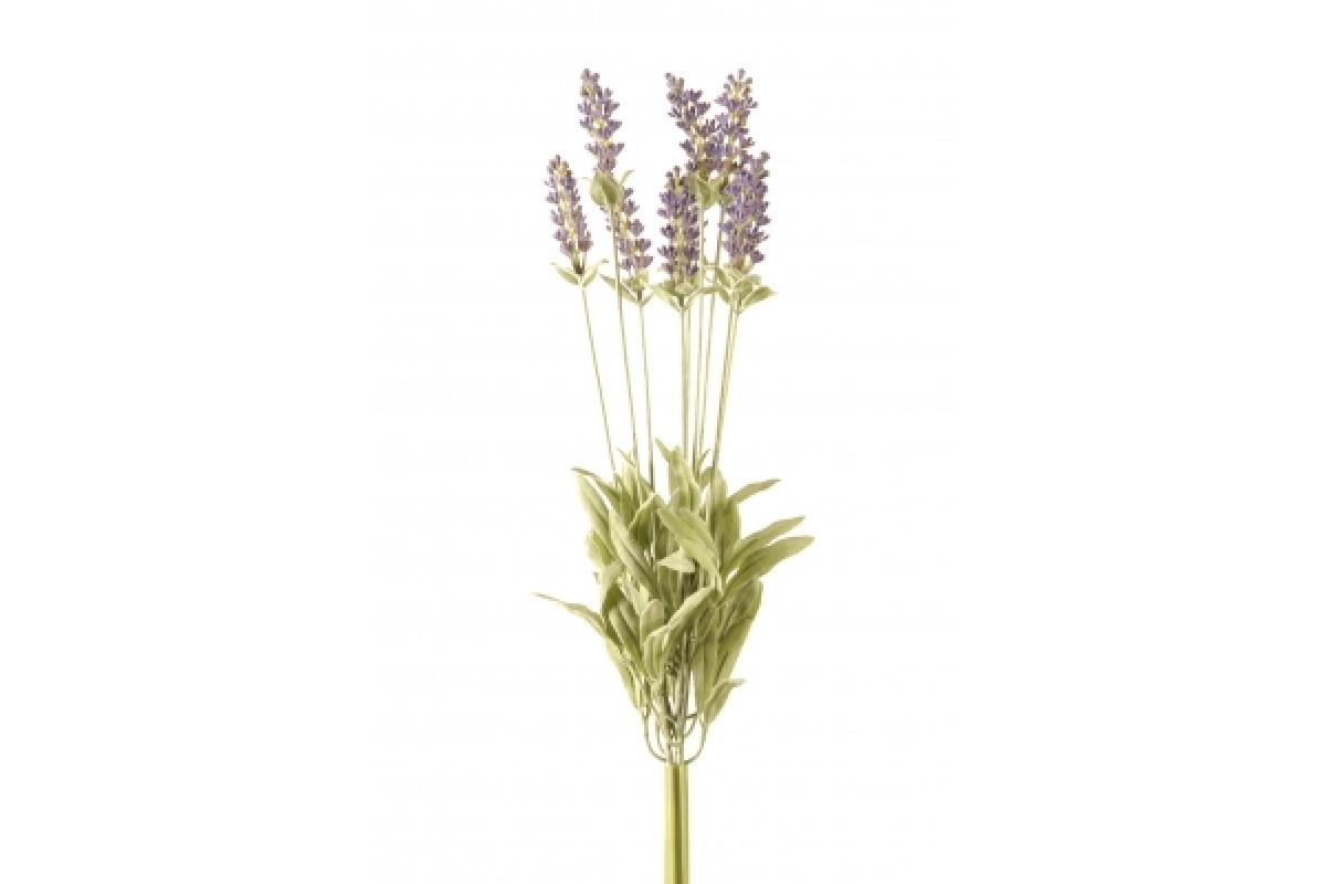 Куст Лаванды Де Люкс искусственный пурпурный припыленный без кашпо 44 см