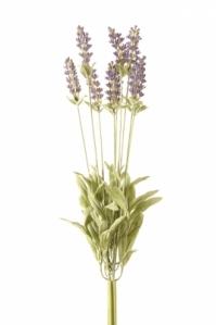 Куст Лаванды Де Люкс искусственный пурпурный припыленный 44 см