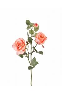 Роза кустовая искусственная персиковый 75 см