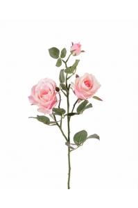 Роза кустовая искусственная нежно-розовый 75 см
