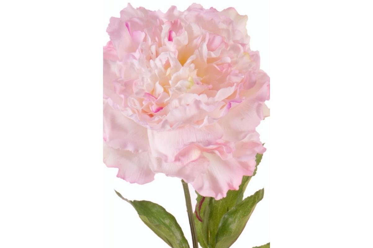 """Пион """"Britt"""" искусственный нежно-розовый 80 см (Real Touch) - Фото 2"""