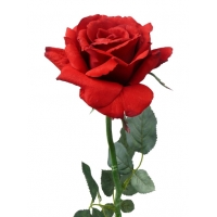 Роза Королевская искусственная красная 67 см