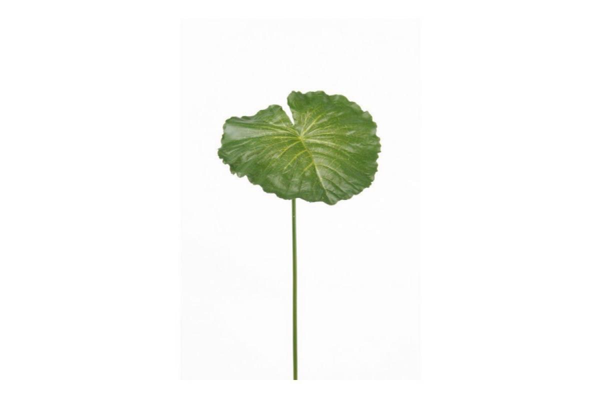 Лотос искусственный зеленый лист 70 см