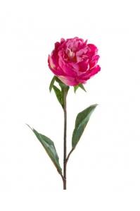 Пион искусственный темно-розовый 68 см