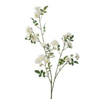 Роза Садовая ветвь искусственная белая 112 см