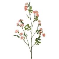 Роза Садовая ветвь искусственная розовая 112 см