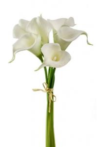 Каллы белые искусственные букет 35 см
