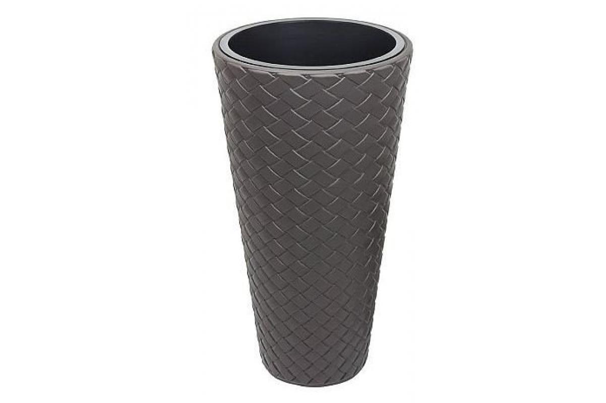Кашпо MATUBA SLIM с контейнером черное
