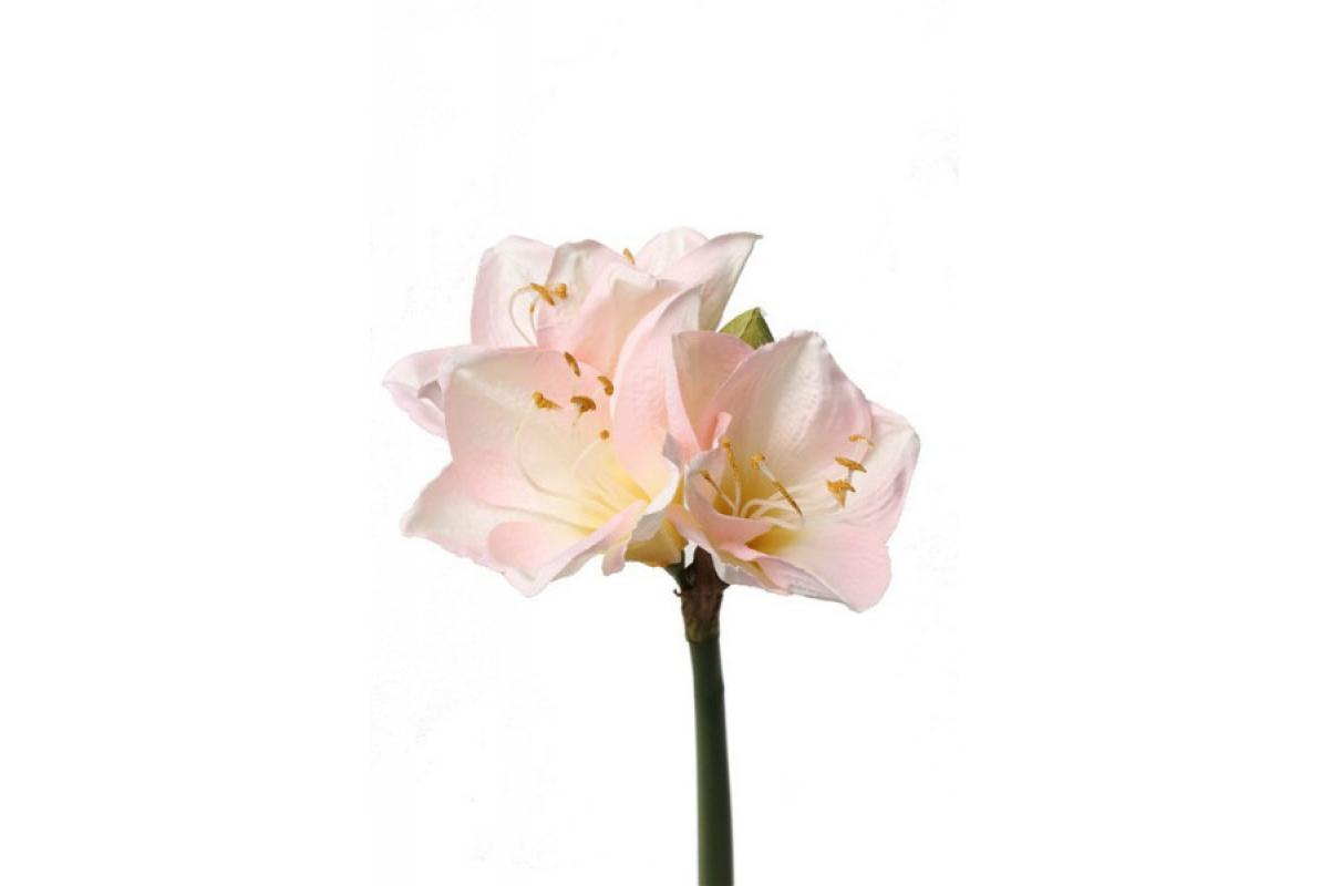 """Амариллис """"Лиза"""" искусственный розовый 54 см"""