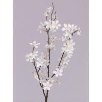 Ветка Яблони цветущая искусственная белая 84 см