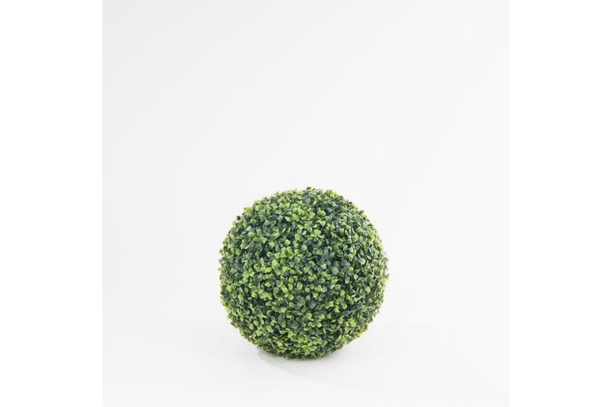 Самшит шар искусственный зеленый 33 см - Фото 3