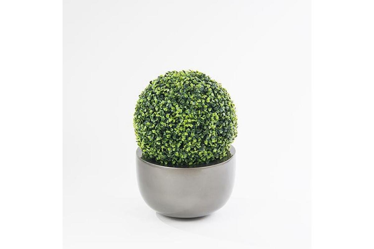 Самшит шар искусственный зеленый 33 см - Фото 2