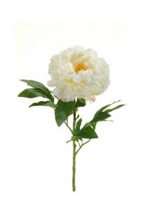 Пион искусственный белый 65 см