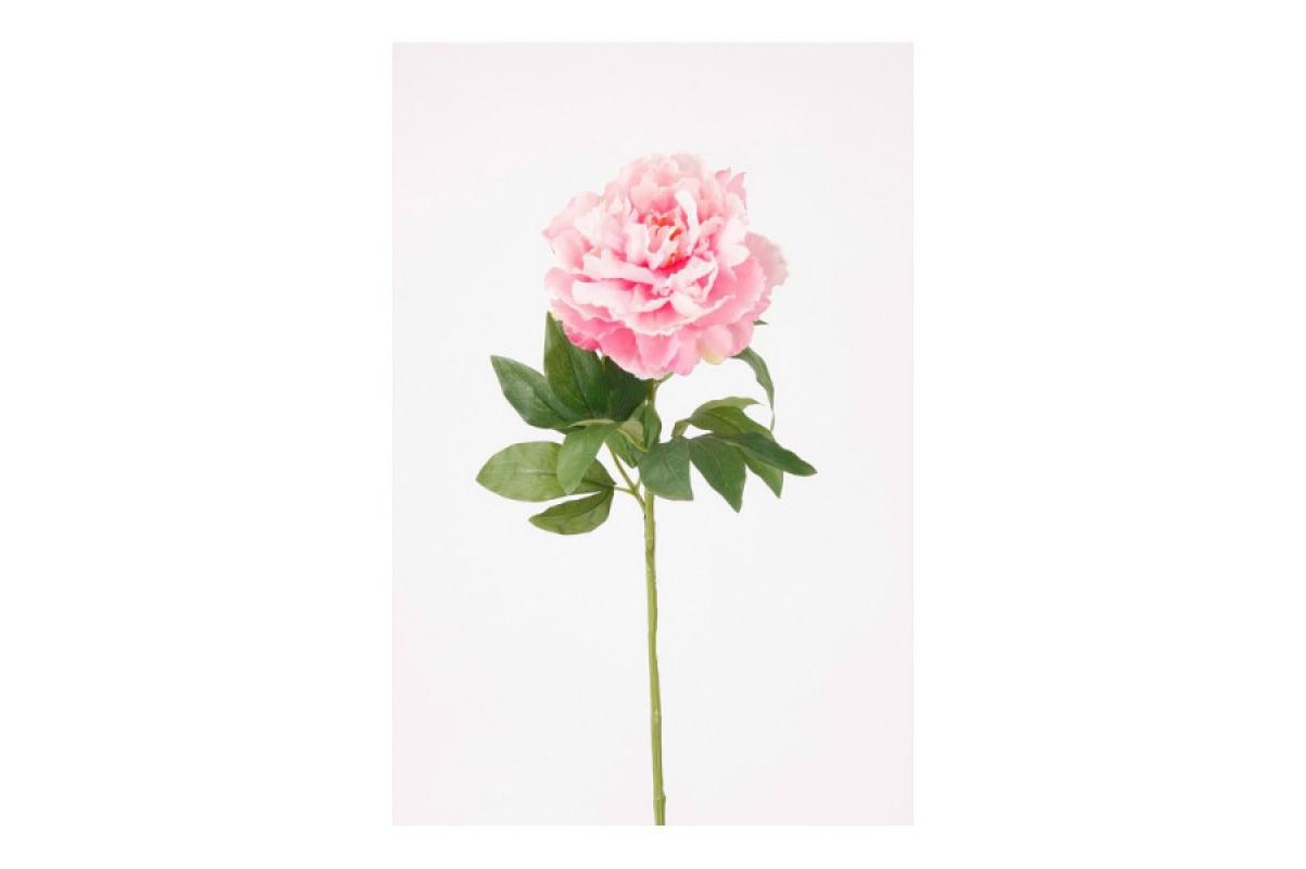 Пион искусственный светло-розовый 65 см