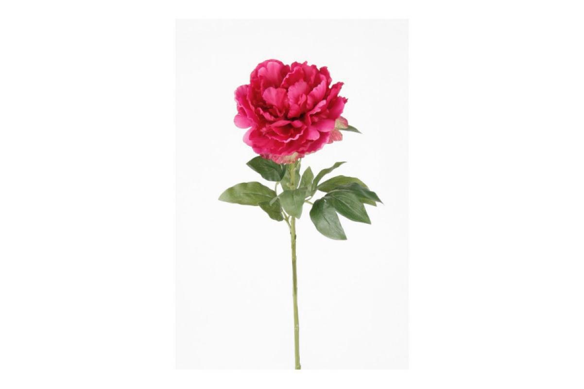 Пион искусственный темно-розовый 65 см
