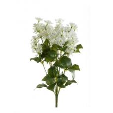 Сирень искусственная куст белая 45 см (без кашпо)