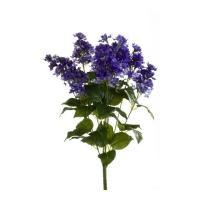 Сирень искусственная куст фиолетовая 45 см (без кашпо)