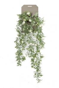Роза куст искусственная ампельная 75 см (Real Touch)