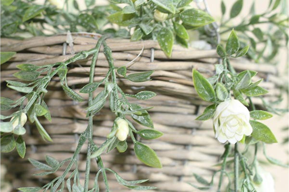 Роза куст искусственная ампельная 75 см (Real Touch) - Фото 2