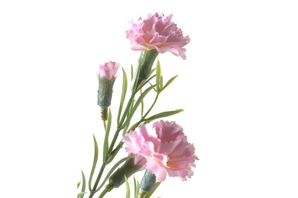 Гвоздика полевая искусственная розовая 64 см - Фото 2