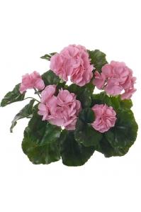 Герань махровая куст искусственная розовая 35 см (без кашпо)