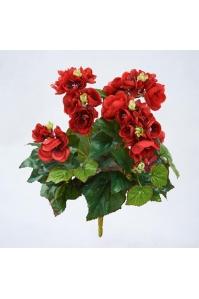 Бегония Цветущая искусственная куст красный 30 см (без кашпо)