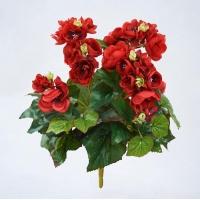 Бегония Цветущая искусственная куст красный 30 см