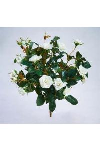 Роза искусственная куст белый 30 см
