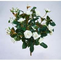 Искусственная Роза куст белый без кашпо 30 см