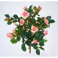Искусственная Роза куст светло-розовый без кашпо 30 см