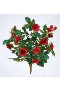 Роза искусственная куст красный 30 см