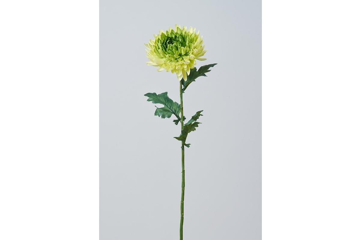 Хризантема Королевская искусственная зеленая 75 см