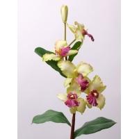 Орхидея Цимбидиум искусственная салатовая 96 см (Real Touch)