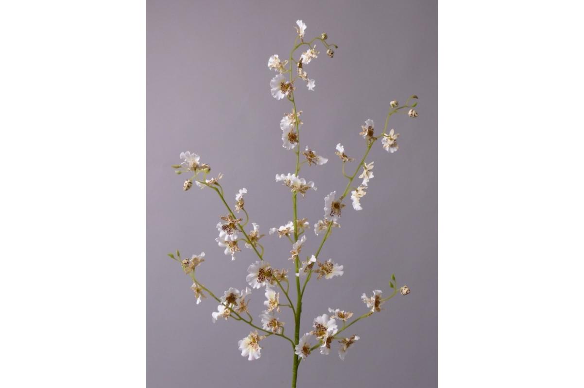 Орхидея Онцидиум ветка большая искусственная белая 117 см