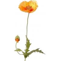 Мак искусственный оранжевый 62 см