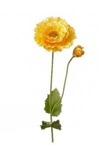 Мак гигант искусственный желтый 85 см