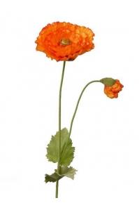 Мак гигант искусственный оранжевый 85 см