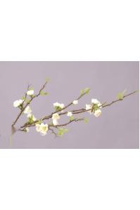 Персик Ветка цветущая Де Люкс искусственная кремовая 95 см