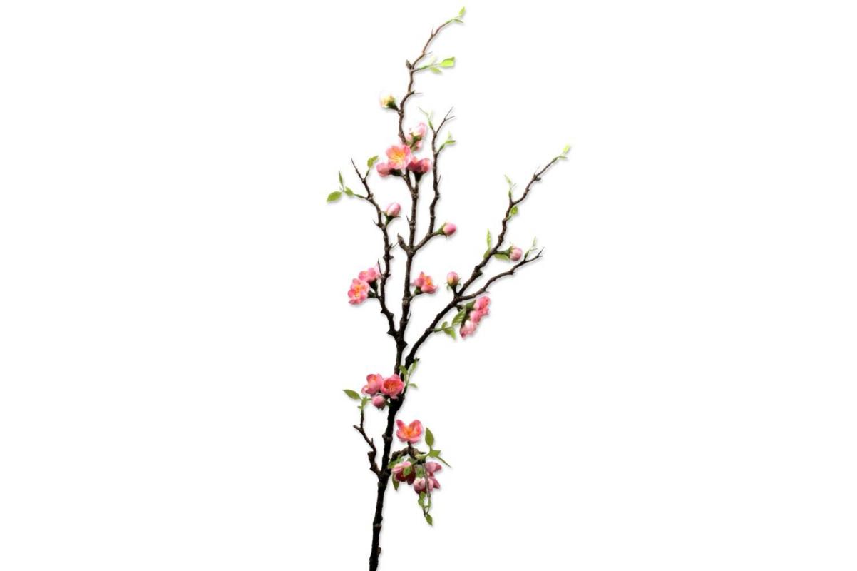 Персик Ветка цветущая Де Люкс искусственная розовая 95 см