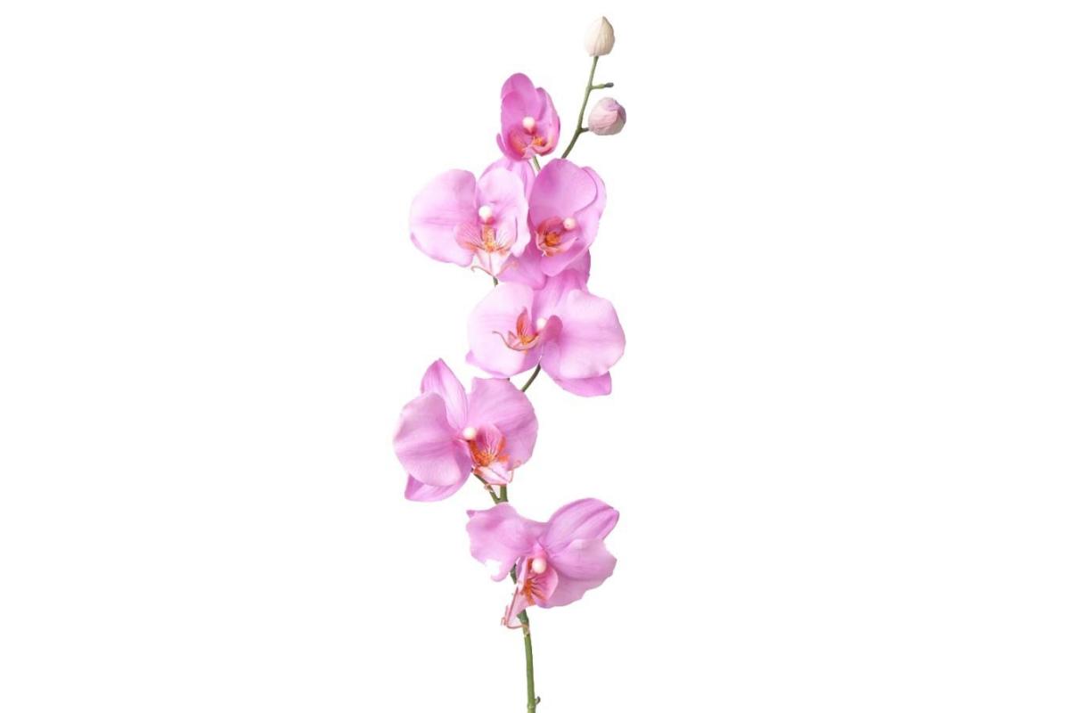Орхидея Фаленопсис искусственная лиловая 75 см (Real Touch)