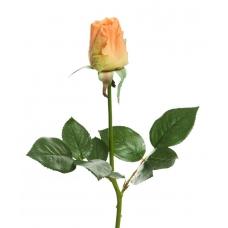 Роза Джой в бутоне искусственная оранжевая 68 см (Real Touch)