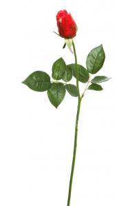 Роза Джой в бутоне искусственная красная 68 см (Real Touch)